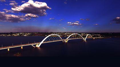 Foto Aérea da Ponte JK de Brasília
